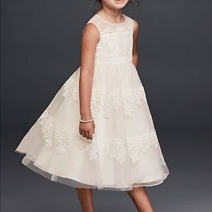 David's bridal flower girl dress size 4